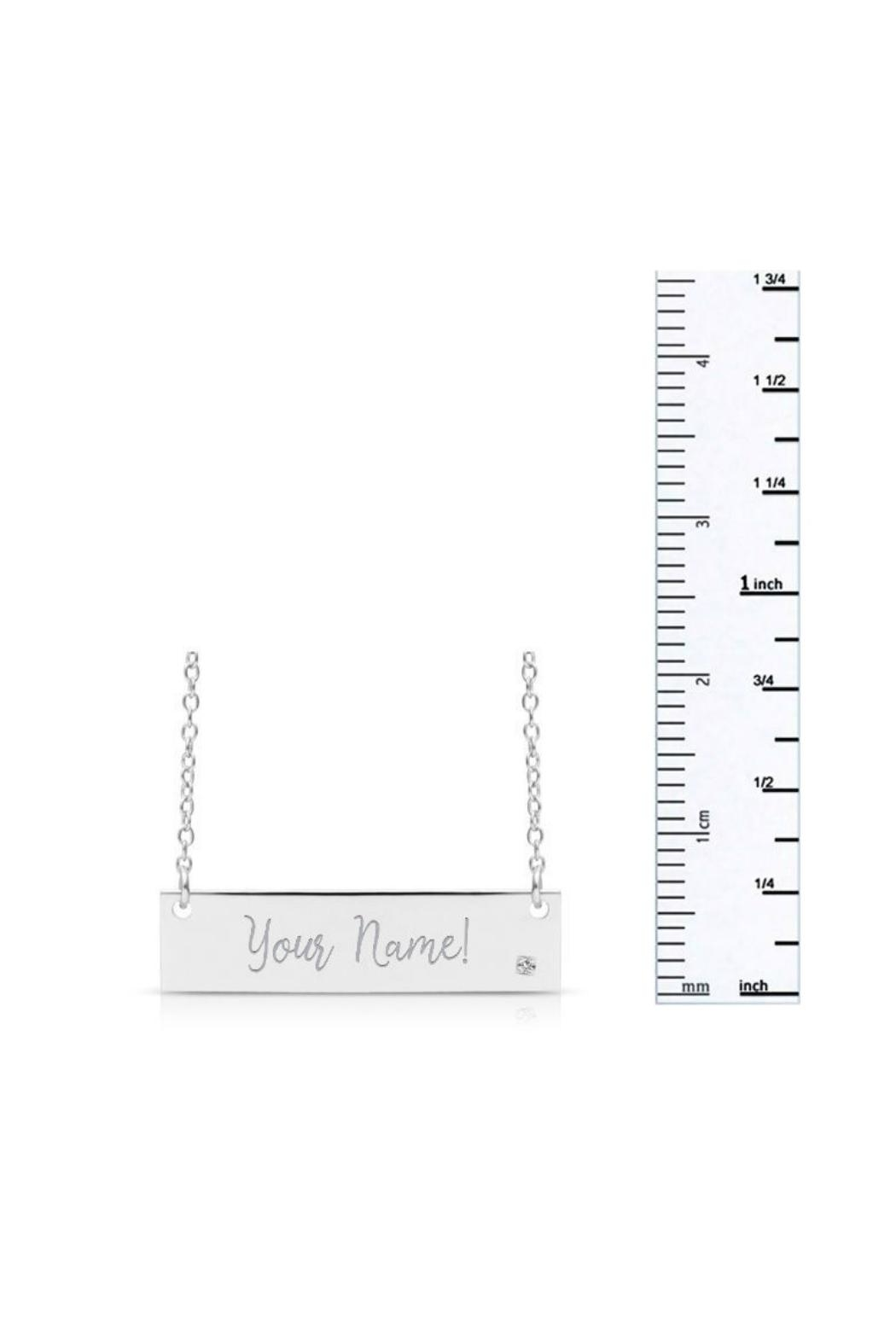 6th Borough Boutique Diamond Nameplate Necklace - Side Cropped Image