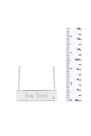 6th Borough Boutique Diamond Nameplate Necklace - Side cropped