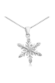 6th Borough Boutique Diamond Snowflake Necklace - Product Mini Image