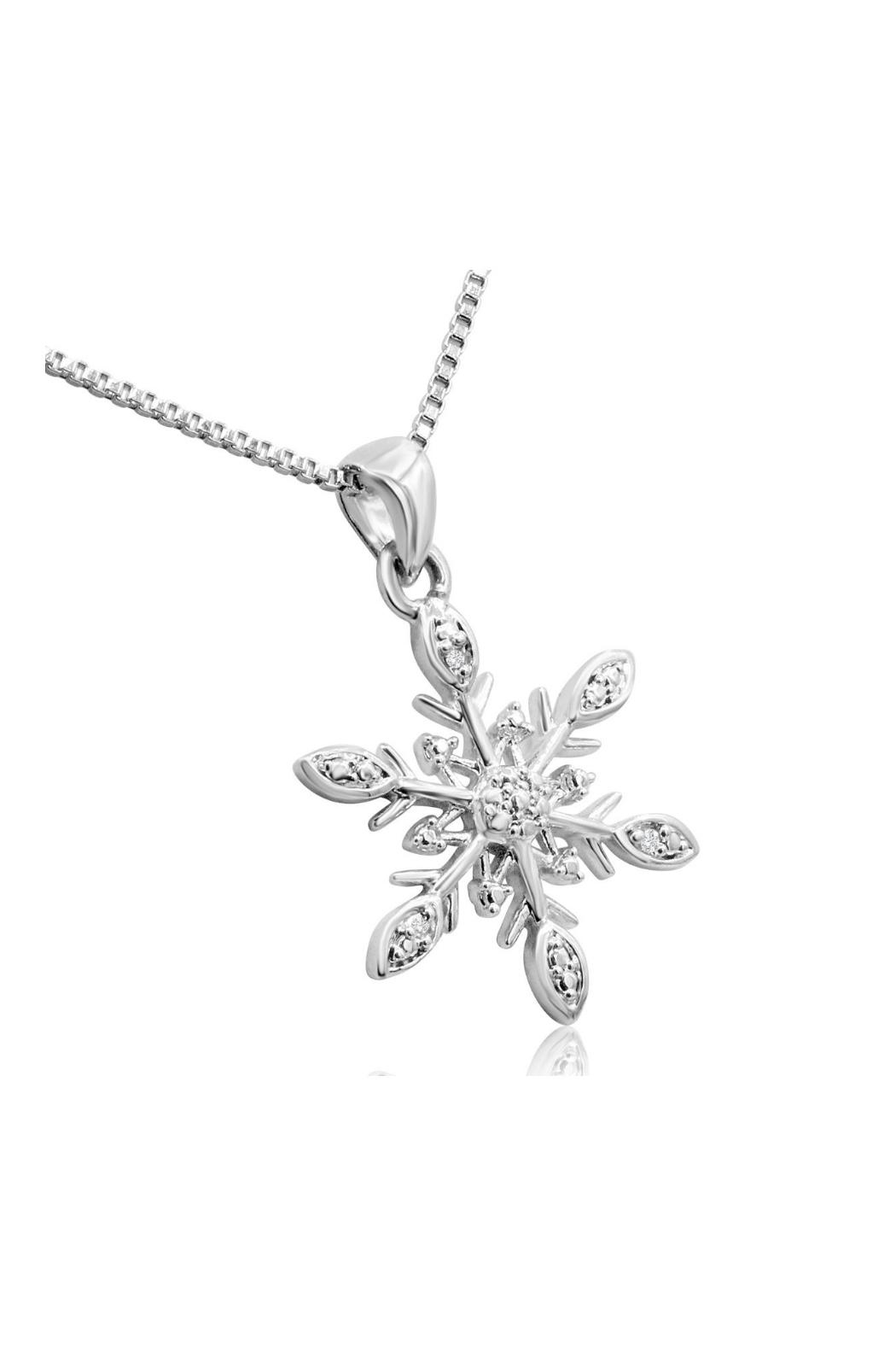 6th Borough Boutique Diamond Snowflake Necklace - Side Cropped Image