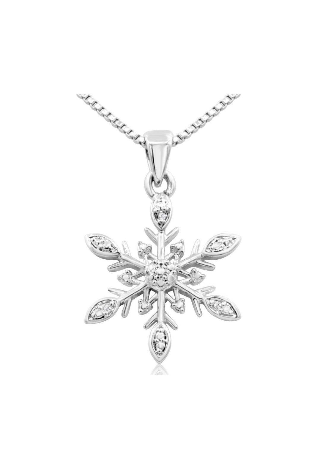 by com sterling original notonthehighstreet dizzy necklace product snowflake silver