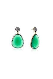 6th Borough Boutique Emerald Gemma Earrings - Product Mini Image