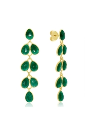 6th Borough Boutique Emerald Maddie Earrings - Product Mini Image