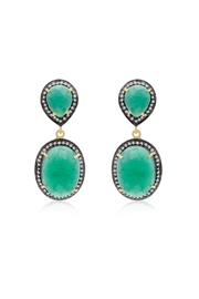 6th Borough Boutique Emerald Sia Earrings - Front full body