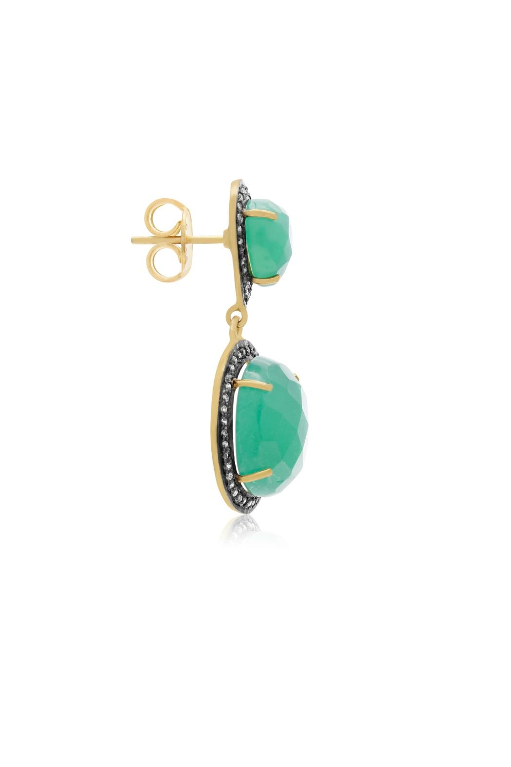 6th Borough Boutique Emerald Sia Earrings - Side Cropped Image