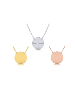 Shoptiques Product: Engraved Circle Necklace