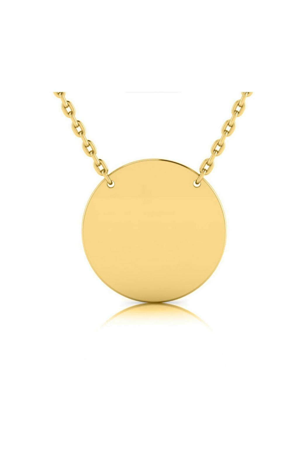 6th Borough Boutique Engraved Circle Necklace - Front Cropped Image