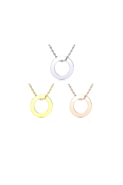 Shoptiques Product: Engraved Circular Necklace