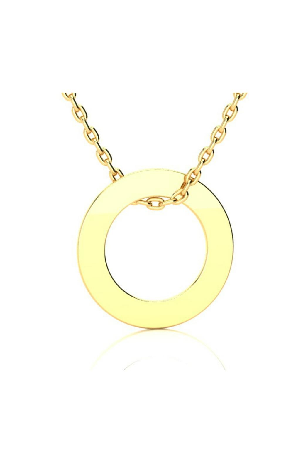 6th Borough Boutique Engraved Circular Necklace - Front Cropped Image