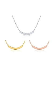 Shoptiques Product: Engraved Curve Necklace