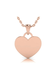 6th Borough Boutique Engraved Heart Necklace - Front cropped