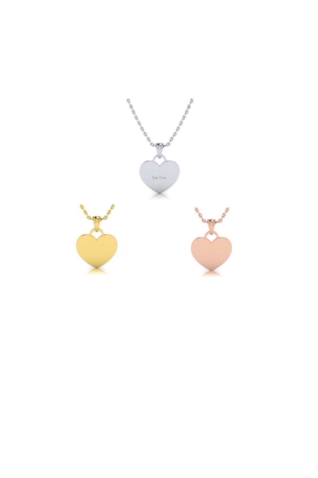 6th Borough Boutique Engraved Heart Necklace - Main Image