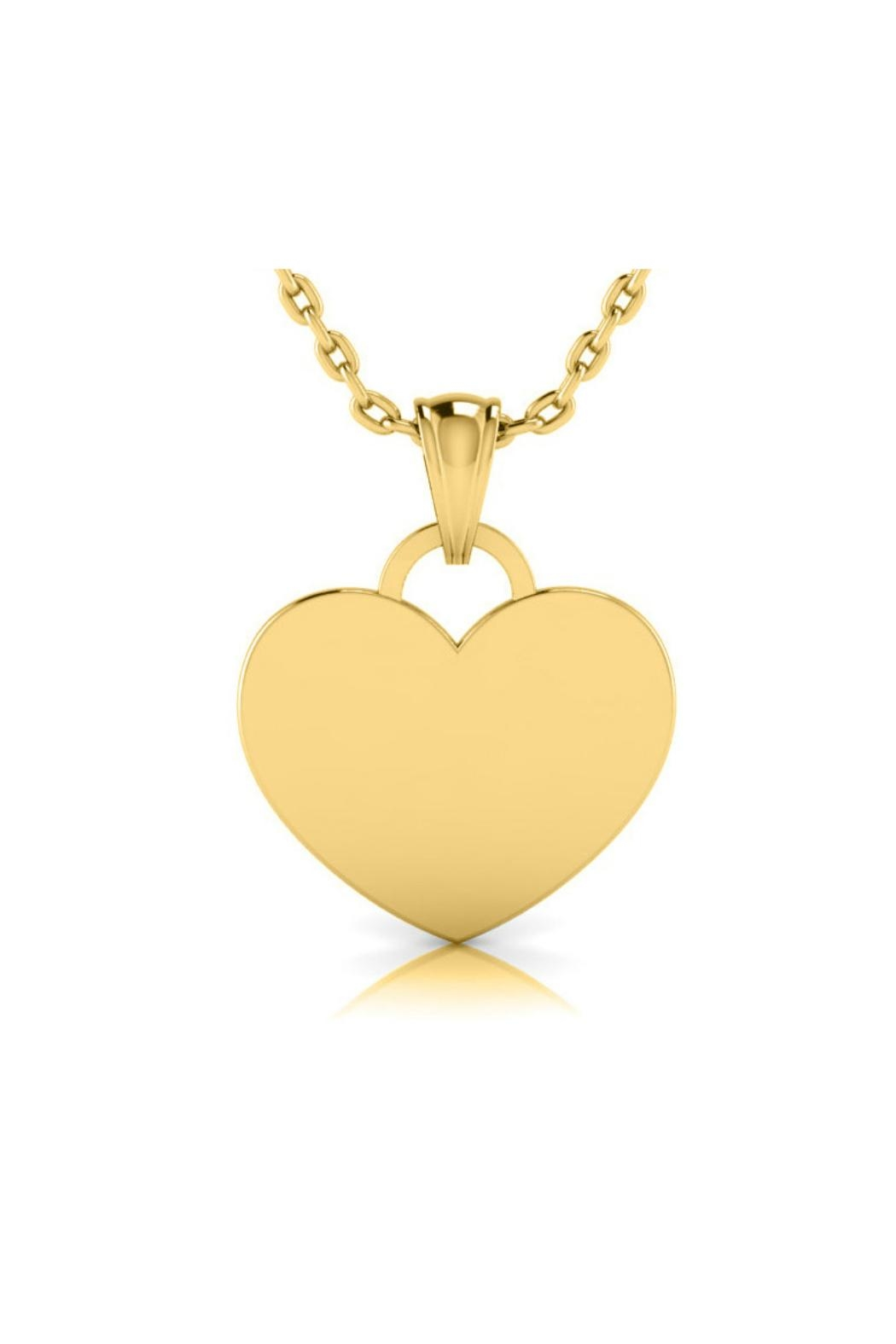 6th Borough Boutique Engraved Heart Necklace - Front Cropped Image