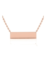 6th Borough Boutique Engraved Nameplate Necklace - Front cropped