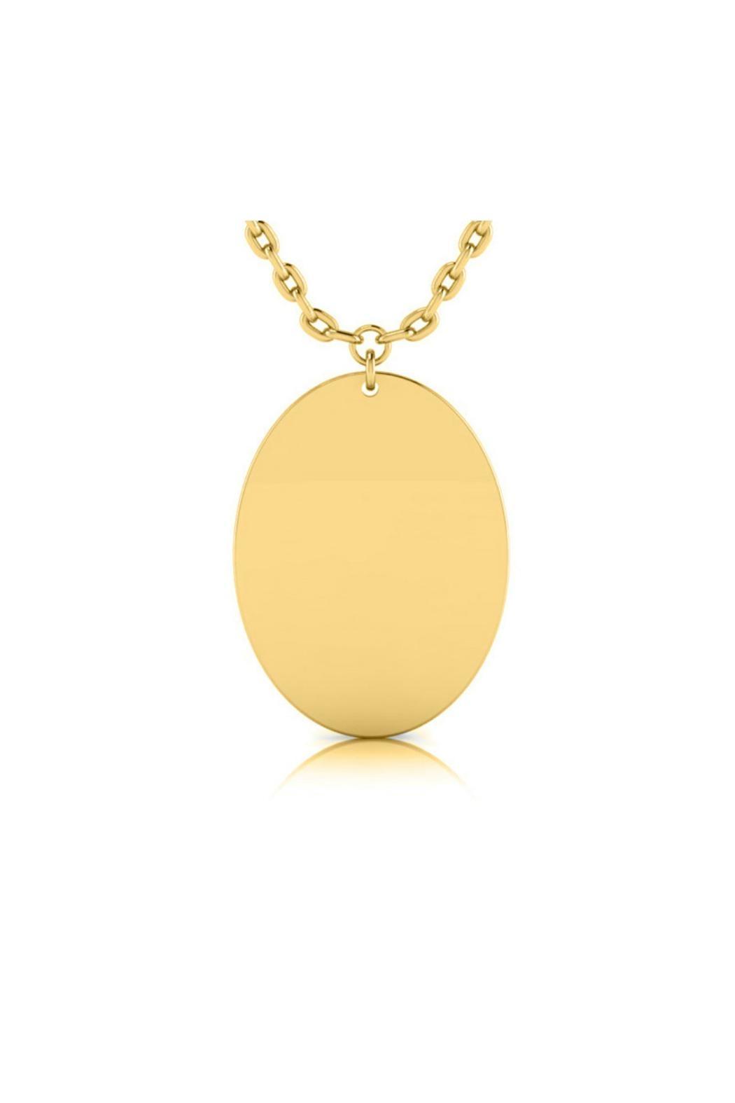 6th Borough Boutique Engraved Oval Necklace - Front Cropped Image