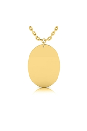 6th Borough Boutique Engraved Oval Necklace - Front cropped