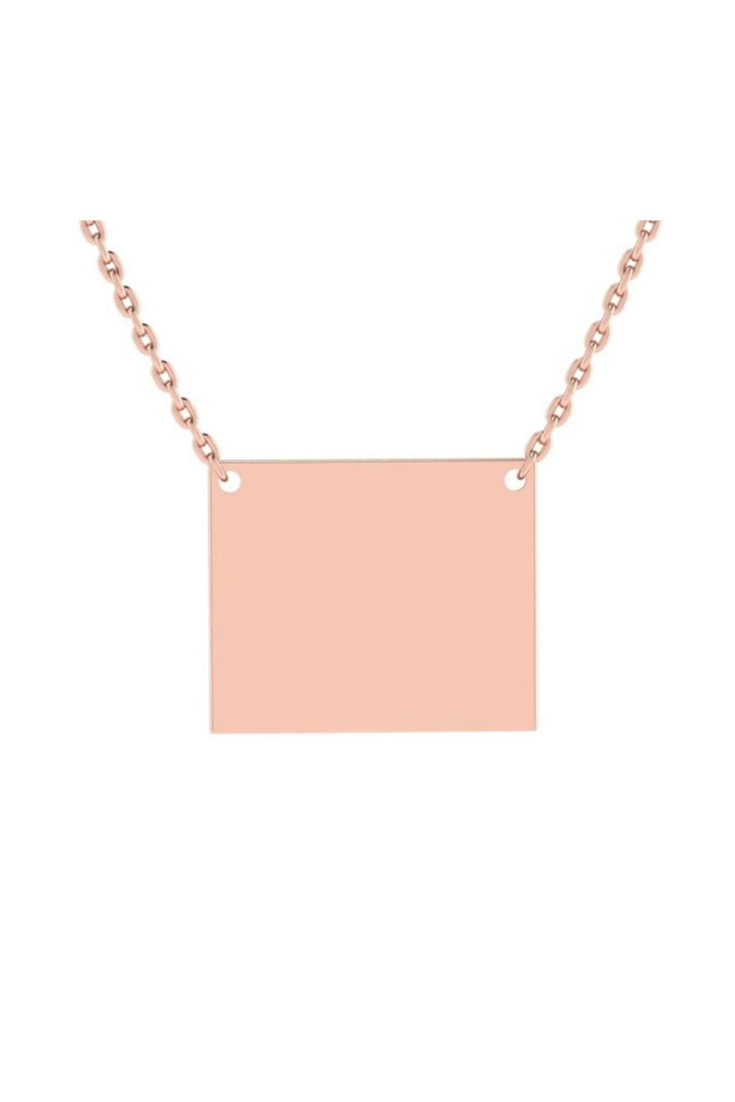 6th Borough Boutique Engraved Rectangle Necklace - Front Cropped Image