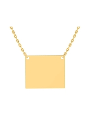 6th Borough Boutique Engraved Rectangle Necklace - Front cropped