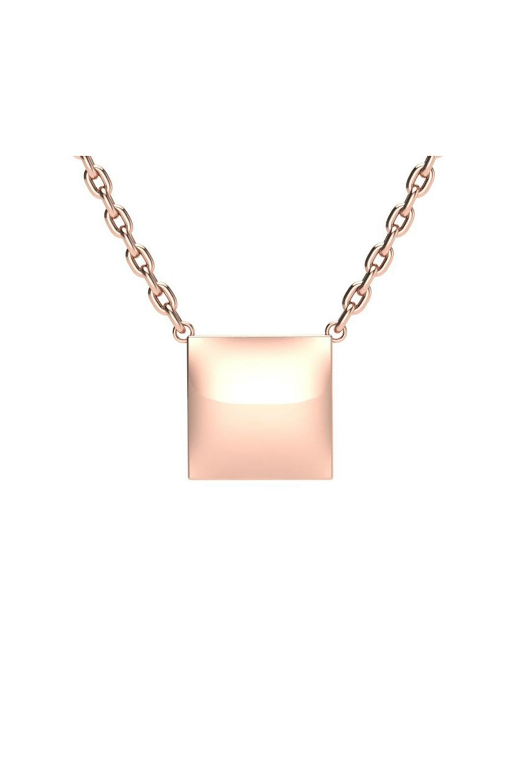 6th Borough Boutique Engraved Square Necklace - Front Cropped Image
