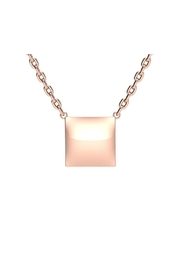 6th Borough Boutique Engraved Square Necklace - Front cropped
