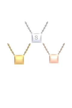 Shoptiques Product: Engraved Square Necklace