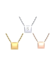 6th Borough Boutique Engraved Square Necklace - Product Mini Image