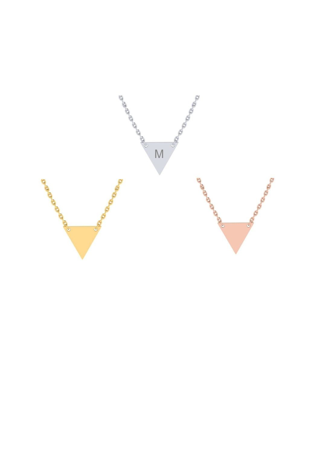 6th Borough Boutique Engraved Triangle Necklace - Main Image