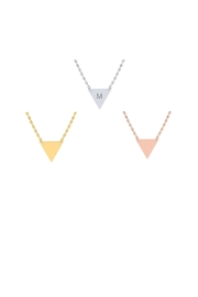 6th Borough Boutique Engraved Triangle Necklace - Front cropped