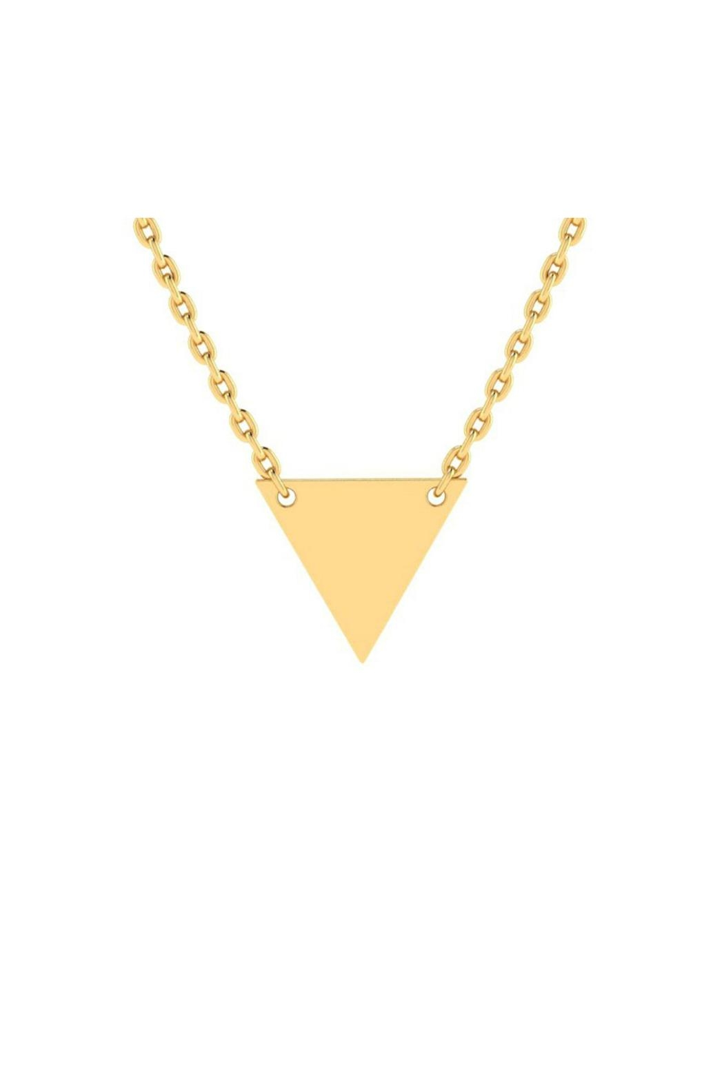6th Borough Boutique Engraved Triangle Necklace - Front Cropped Image
