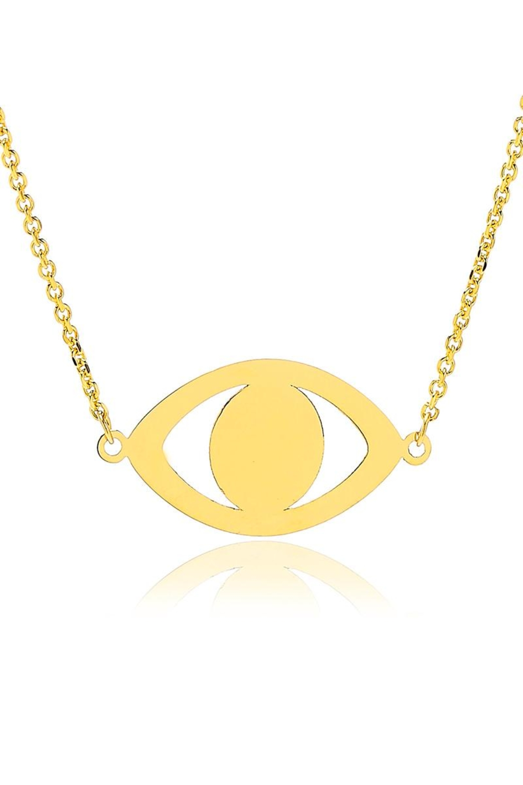 6th Borough Boutique Evil Eye Necklace - Front Full Image