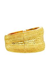 6th Borough Boutique Gold Bangle Bracelet - Front full body