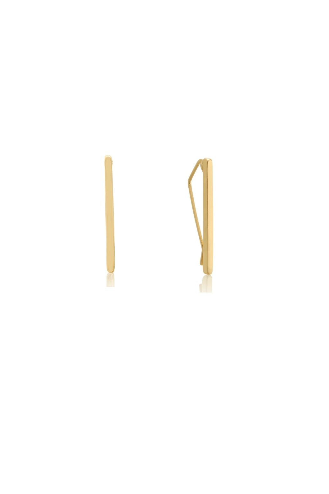 6th Borough Boutique Gold Ear Climbers - Main Image