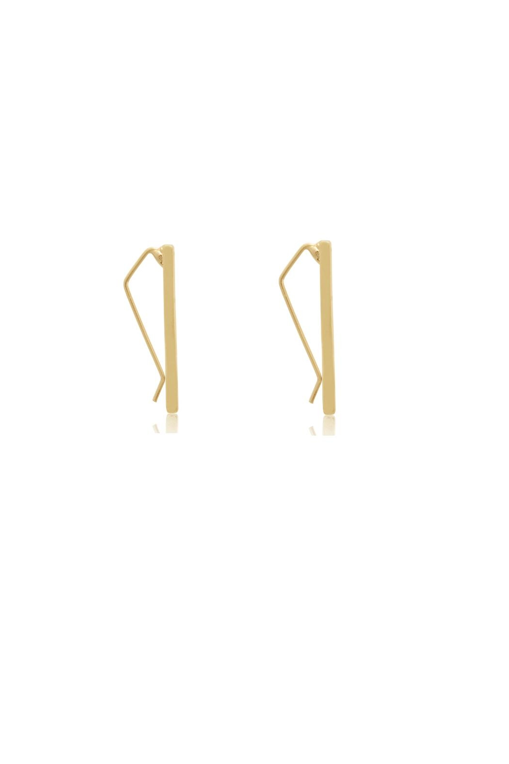 6th Borough Boutique Gold Ear Climbers - Front Full Image
