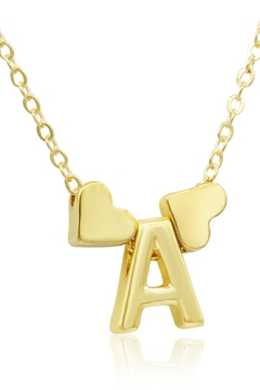 Shoptiques Product: Gold Heart Initial Necklace