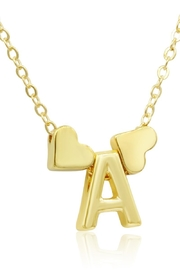 6th Borough Boutique Gold Heart Initial Necklace - Product Mini Image
