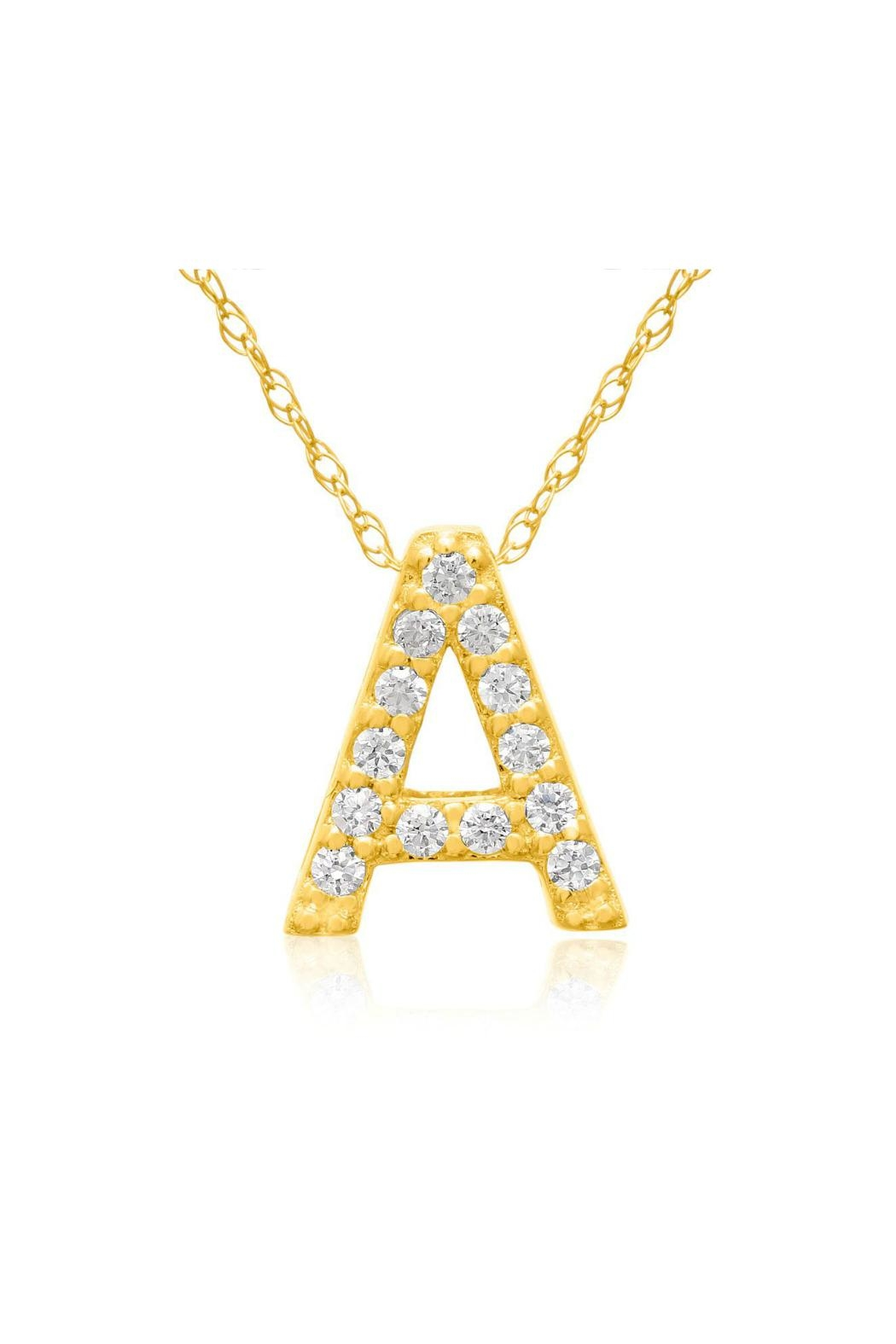 6th Borough Boutique Gold Initial Necklace - Main Image