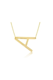 6th Borough Boutique Gold Initial Necklace - Product Mini Image