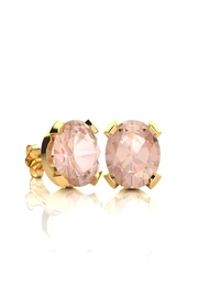 6th Borough Boutique Gold Morganite Studs - Front cropped