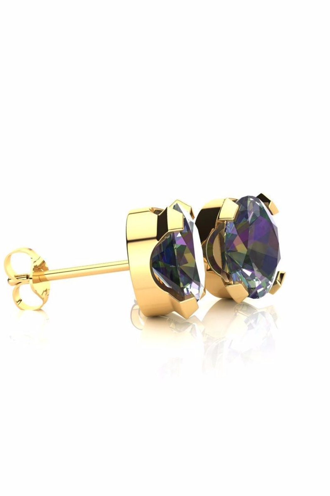 6th Borough Boutique Gold Mystic Studs - Front Full Image
