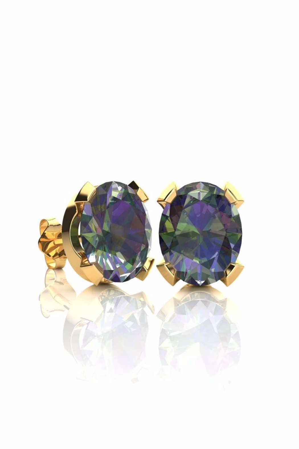 6th Borough Boutique Gold Mystic Studs - Main Image
