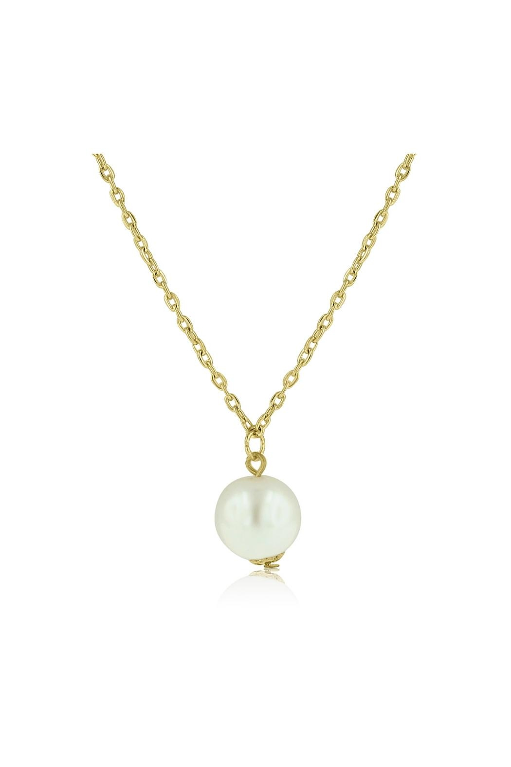 6th Borough Boutique Gold Pearl Necklace - Front Full Image