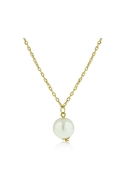 6th Borough Boutique Gold Pearl Necklace - Front full body