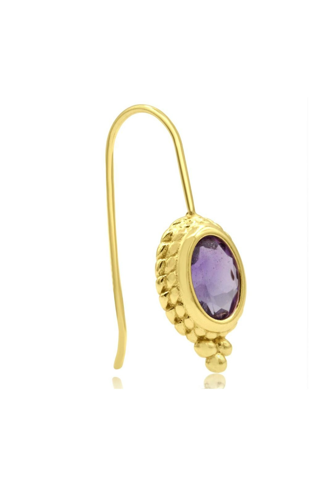 6th Borough Boutique Gold Ropework Earrings - Side Cropped Image