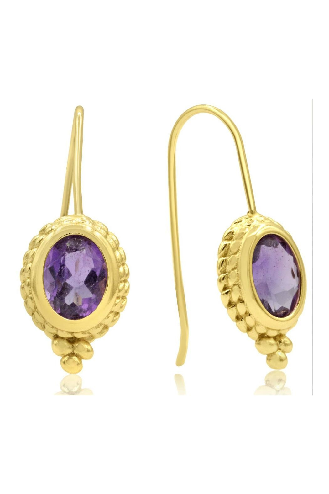 6th Borough Boutique Gold Ropework Earrings - Front Full Image