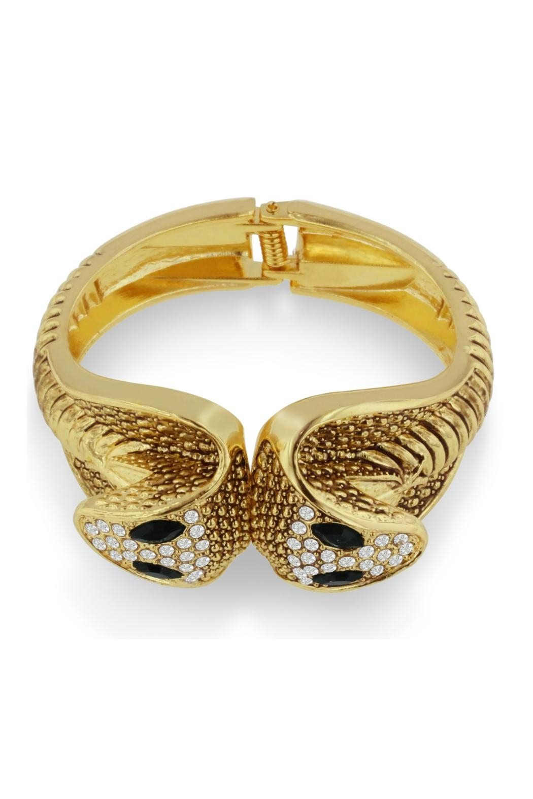6th Borough Boutique Gold Snake Cuff - Side Cropped Image