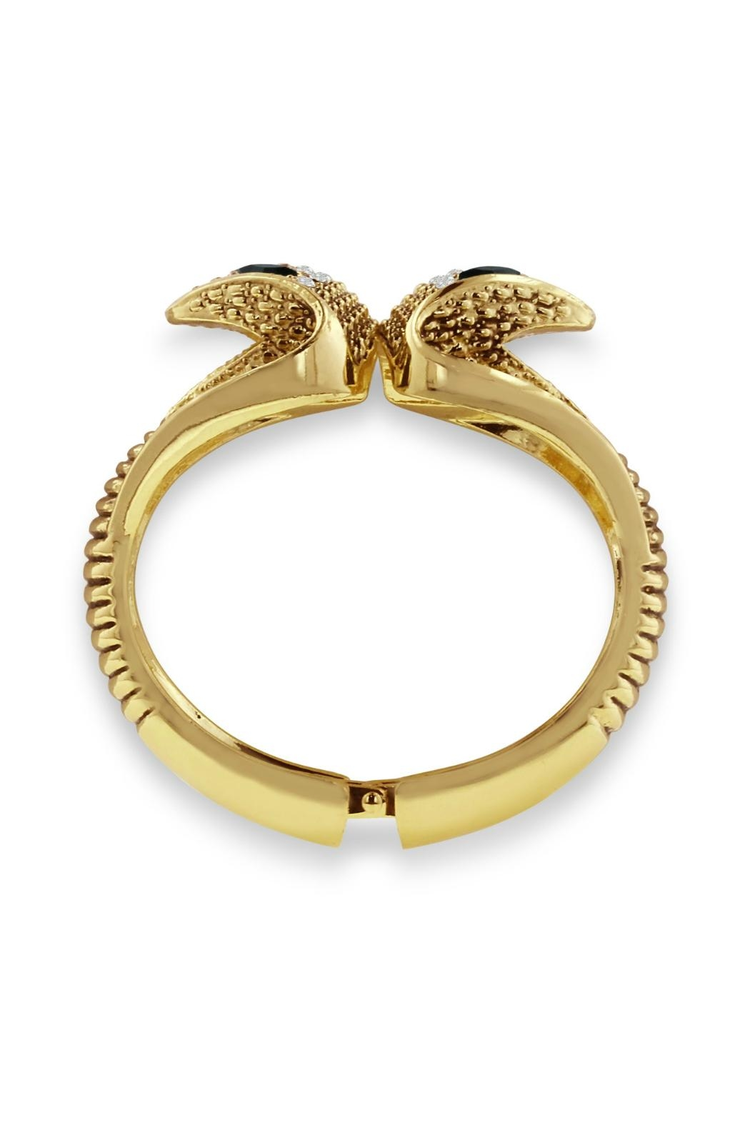 6th Borough Boutique Gold Snake Cuff - Front Full Image