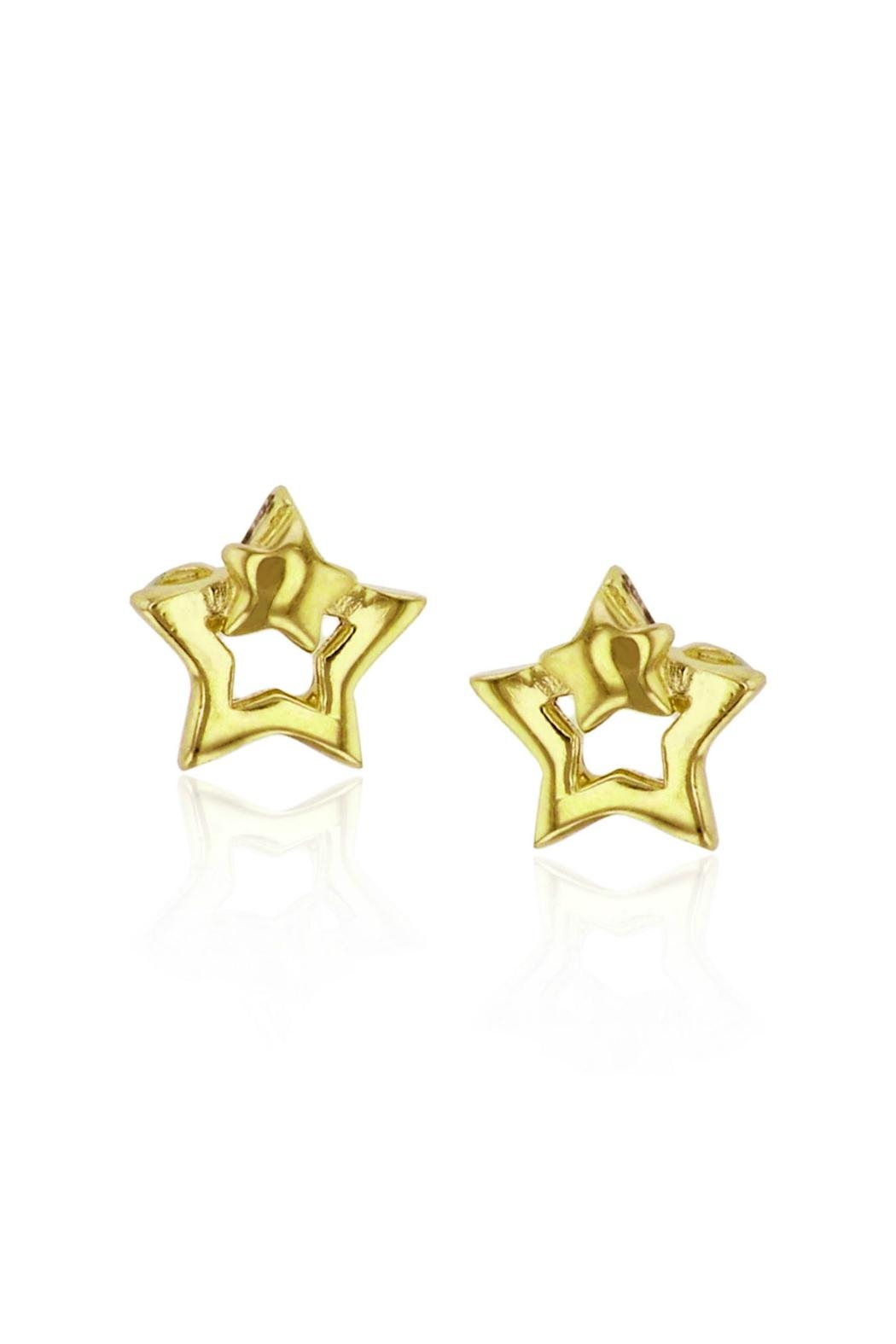 6th Borough Boutique Gold Star Earrings - Front Full Image