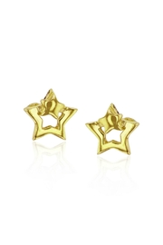 6th Borough Boutique Gold Star Earrings - Front full body