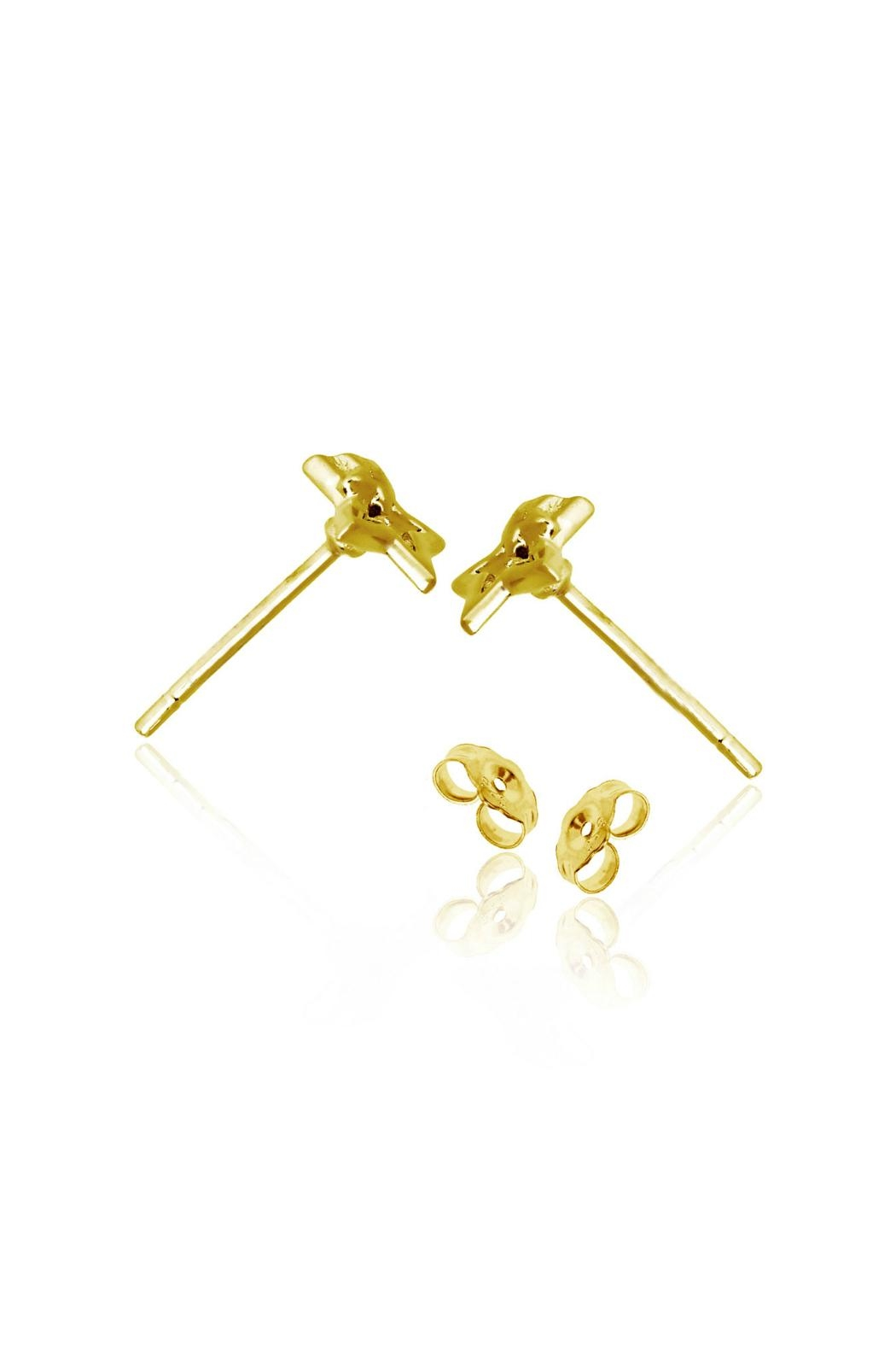 6th Borough Boutique Gold Star Earrings - Side Cropped Image