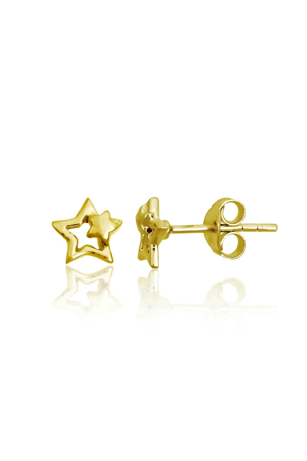 6th Borough Boutique Gold Star Earrings - Main Image